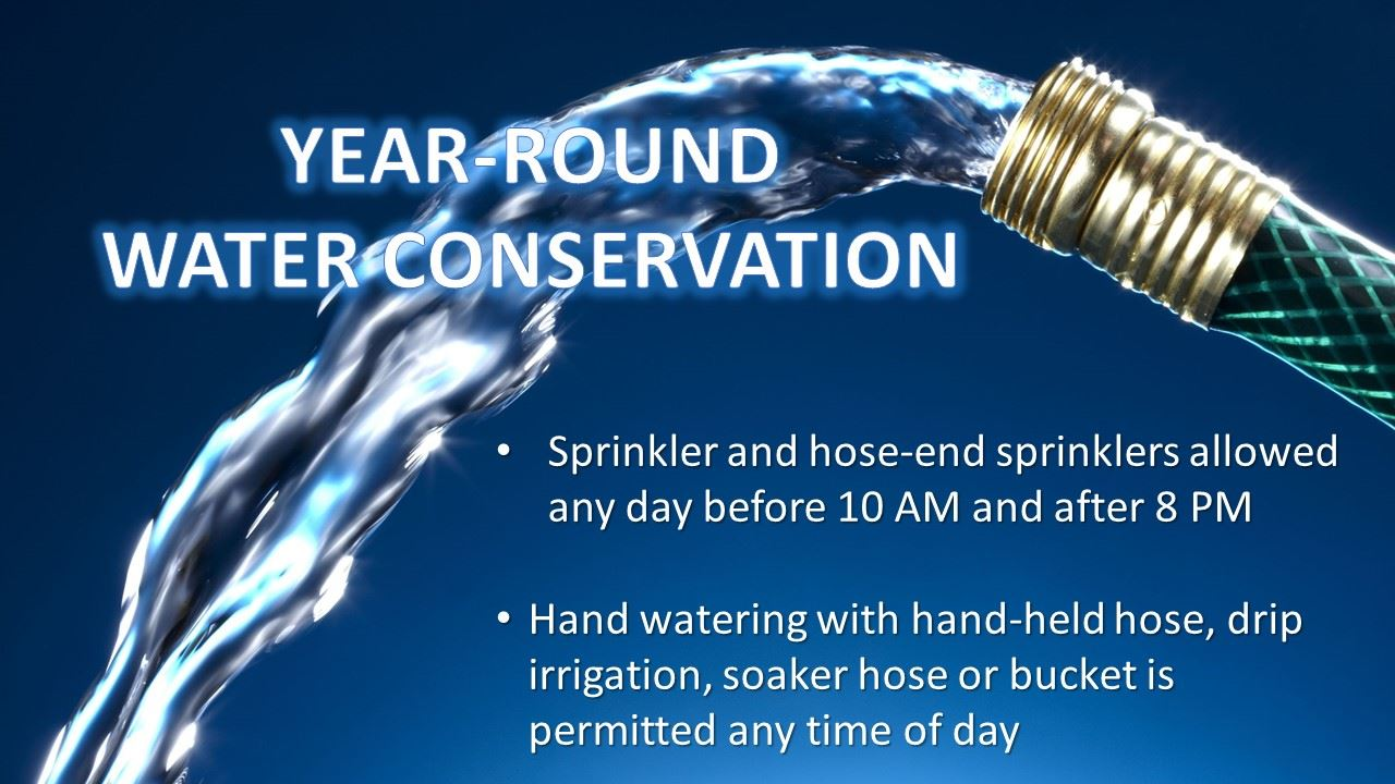 Year round water conservation
